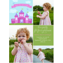 Birthday Party Invites 5x7 Cards, Premium Cardstock 120lb with Elegant Corners, Card & Stationery -A Party Fit for a Princess