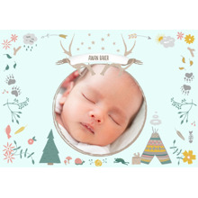Baby & Kids 3.5x5 Folded Notecard, Card & Stationery -Scout