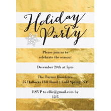 Christmas Party Invitations 5x7 Cards, Premium Cardstock 120lb with Elegant Corners, Card & Stationery -Holiday Party Gold Stripes