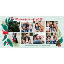 Christmas Photo Cards 4x8 Flat Card Set, 85lb, Card & Stationery -Rustic Mistletoe Memories 2018