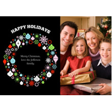 Christmas Photo Cards 5x7 Cards, Premium Cardstock 120lb with Scalloped Corners, Card & Stationery -Bountiful Wreath