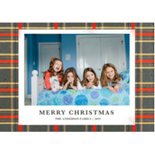 Christmas Photo Cards 5x7 Cards, Premium Cardstock 120lb with Elegant Corners, Card & Stationery -Classic Christmas Plaid