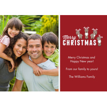 Christmas Photo Cards 5x7 Cards, Premium Cardstock 120lb with Elegant Corners, Card & Stationery -Reindeer Friends