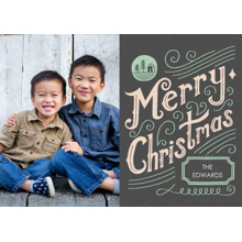 Christmas Photo Cards 5x7 Cards, Premium Cardstock 120lb with Rounded Corners, Card & Stationery -Seasonal Scribbles
