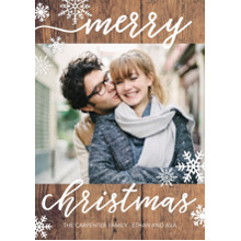 Christmas Photo Cards 5x7 Cards, Premium Cardstock 120lb with Rounded Corners, Card & Stationery -Christmas Rustic Hand Lettered
