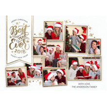 Christmas Photo Cards 5x7 Cards, Premium Cardstock 120lb with Rounded Corners, Card & Stationery -2018 Best Year Ever by Tumbalina