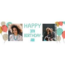 Birthday 2x6 Peel, Stick & Reuse Banner, Home Decor -Birthday Balloons Classic