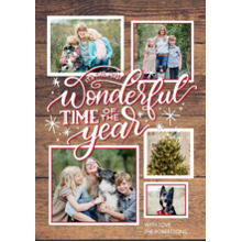 Christmas Photo Cards 5x7 Cards, Premium Cardstock 120lb with Elegant Corners, Card & Stationery -Christmas Wonderful Stars by Tumbalina