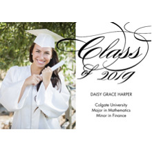 2019 Graduation Announcements 5x7 Cards, Premium Cardstock 120lb with Rounded Corners, Card & Stationery -2019 Grad Script by Tumbalina