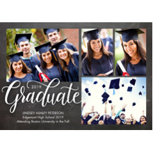 2019 Graduation Announcements 5x7 Cards, Premium Cardstock 120lb with Rounded Corners, Card & Stationery -Graduate 2019 Rustic by Tumbalina