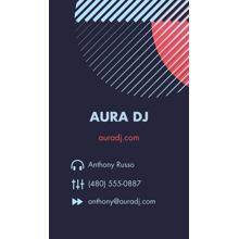 Arts & Media 2x3.5 Business Cards - Double Sided , Card & Stationery -Aura DJ