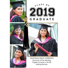 2019 Graduation Announcements 5x7 Cards, Premium Cardstock 120lb with Rounded Corners, Card & Stationery -Grad 2019 Tassel Memories by Tumbalina