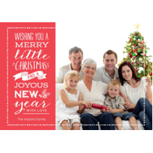 Christmas Photo Cards 5x7 Cards, Premium Cardstock 120lb with Rounded Corners, Card & Stationery -Christmas Greetings