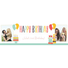 Birthday 1x3 Peel, Stick & Reuse Banner, Home Decor -Retro Shindig