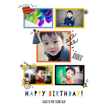 Birthday 16x20 Poster, Home Decor -Birthday Doodles