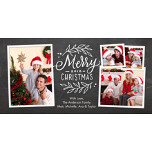 Christmas Photo Cards 4x8 Flat Card Set, 85lb, Card & Stationery -Christmas 2018 Rustic Foliage by Tumbalina