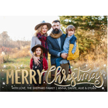 Christmas Photo Cards 5x7 Cards, Premium Cardstock 120lb with Elegant Corners, Card & Stationery -Christmas Stars Script by Tumbalina