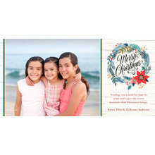 Christmas Photo Cards 4x8 Flat Card Set, 85lb, Card & Stationery -Birch Christmas Wreath