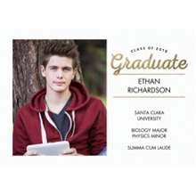 2019 Graduation Announcements 5x7 Cards, Premium Cardstock 120lb with Rounded Corners, Card & Stationery -Class of 2019 Memories by Tumbalina