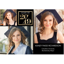 2019 Graduation Announcements 5x7 Cards, Premium Cardstock 120lb with Rounded Corners, Card & Stationery -2019 Stylish by Tumbalina