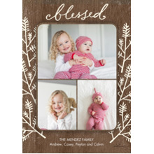 Christmas Photo Cards 5x7 Cards, Premium Cardstock 120lb with Scalloped Corners, Card & Stationery -Blanc Branches