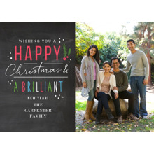 Christmas Photo Cards 5x7 Cards, Premium Cardstock 120lb with Elegant Corners, Card & Stationery -Happy Handwritten Brilliance