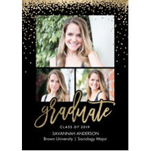 2019 Graduation Announcements 5x7 Cards, Premium Cardstock 120lb with Rounded Corners, Card & Stationery -Graduate 2019 Sparkles by Tumbalina