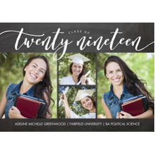 2019 Graduation Announcements 5x7 Cards, Premium Cardstock 120lb with Rounded Corners, Card & Stationery -Graduate Twenty Nineteen by Tumbalina