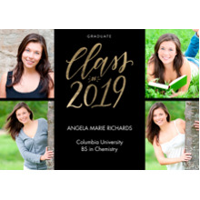 2019 Graduation Announcements 5x7 Cards, Premium Cardstock 120lb with Rounded Corners, Card & Stationery -2019 Shining Year by Tumbalina