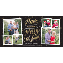 Christmas Photo Cards 4x8 Flat Card Set, 85lb, Card & Stationery -Christmas Merry Rustic