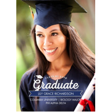 2019 Graduation Announcements 5x7 Cards, Premium Cardstock 120lb with Scalloped Corners, Card & Stationery -2019 Grad Banner by Tumbalina