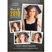 2019 Graduation Announcements 5x7 Cards, Premium Cardstock 120lb with Scalloped Corners, Card & Stationery -Grad Class of 2019 Collage by Tumbalina