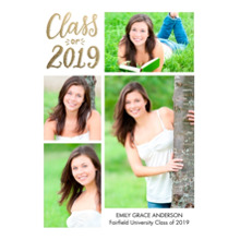 2019 Graduation Announcements 5x7 Cards, Premium Cardstock 120lb with Scalloped Corners, Card & Stationery -Grad 2019 Memories by Tumbalina
