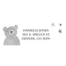 Baby Address Labels, Card & Stationery -Little Bear Cub