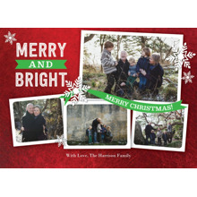 Christmas Photo Cards 5x7 Cards, Premium Cardstock 120lb with Elegant Corners, Card & Stationery -Christmas Merry Banner