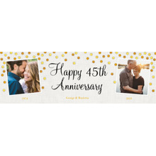 Anniversary 2x6 Peel, Stick & Reuse Banner, Home Decor -Gold Anniversary