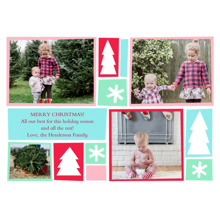 Christmas Photo Cards 5x7 Cards, Premium Cardstock 120lb with Elegant Corners, Card & Stationery -Fun Holidays Pastel