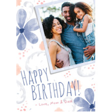 Birthday Greeting Cards 5x7 Cards, Premium Cardstock 120lb with Scalloped Corners, Card & Stationery -Watercolor Blossom