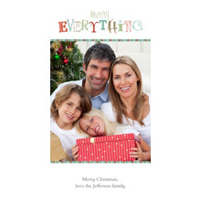 Christmas Photo Cards 4x8 Flat Card Set, 85lb, Card & Stationery -Merry Everything