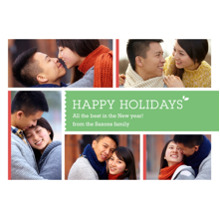 Christmas Photo Cards 5x7 Cards, Premium Cardstock 120lb with Elegant Corners, Card & Stationery -Multi-Photo Happy Holidays