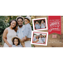Christmas Photo Cards 4x8 Flat Card Set, 85lb, Card & Stationery -Holiday 2018 Banner by Tumbalina