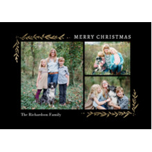 Christmas Photo Cards 5x7 Cards, Premium Cardstock 120lb with Rounded Corners, Card & Stationery -Christmas Corners Foliage