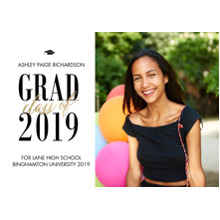 2019 Graduation Announcements 5x7 Cards, Premium Cardstock 120lb with Rounded Corners, Card & Stationery -Grad Class of Gold 2019 by Tumbalina