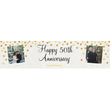 Anniversary 2x8 Peel, Stick & Reuse Banner, Home Decor -Gold Anniversary