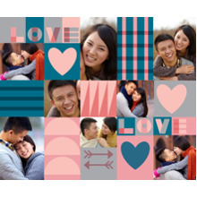 Love Sherpa Blanket, Gift -Love Collage