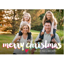 Christmas Photo Cards 5x7 Cards, Premium Cardstock 120lb with Rounded Corners, Card & Stationery -Colorful Christmas