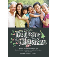 Christmas Photo Cards 5x7 Cards, Premium Cardstock 120lb with Rounded Corners, Card & Stationery -Hand Drawn Christmas