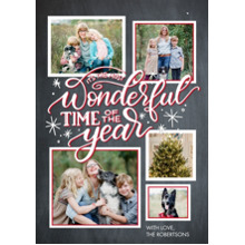 Christmas Photo Cards 5x7 Cards, Premium Cardstock 120lb with Rounded Corners, Card & Stationery -Christmas Wonderful Stars by Tumbalina