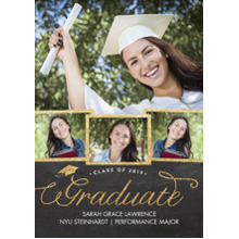 2019 Graduation Announcements 5x7 Cards, Premium Cardstock 120lb with Scalloped Corners, Card & Stationery -2019 Graduate Script by Tumbalina