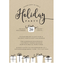 Christmas Party Invitations 5x7 Cards, Premium Cardstock 120lb with Rounded Corners, Card & Stationery -Holiday Invite Gifts